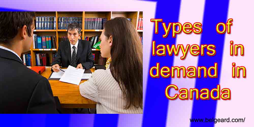 Types of lawyers in demand in Canada