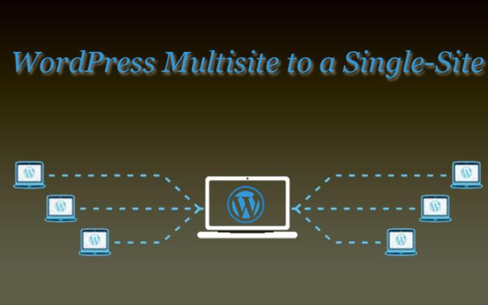 WordPress Multisite to a Single-Site