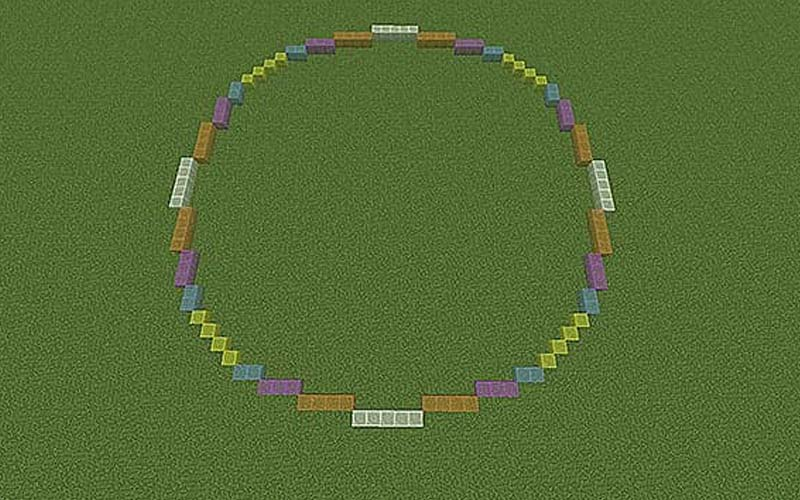 Make a circle in Minecraft