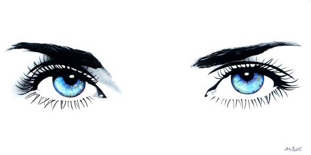 Lustrous eyes